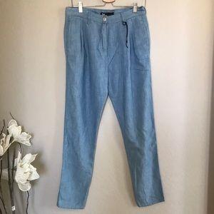 anthropologie 3x1 W2 blue cotton pants Sz 26